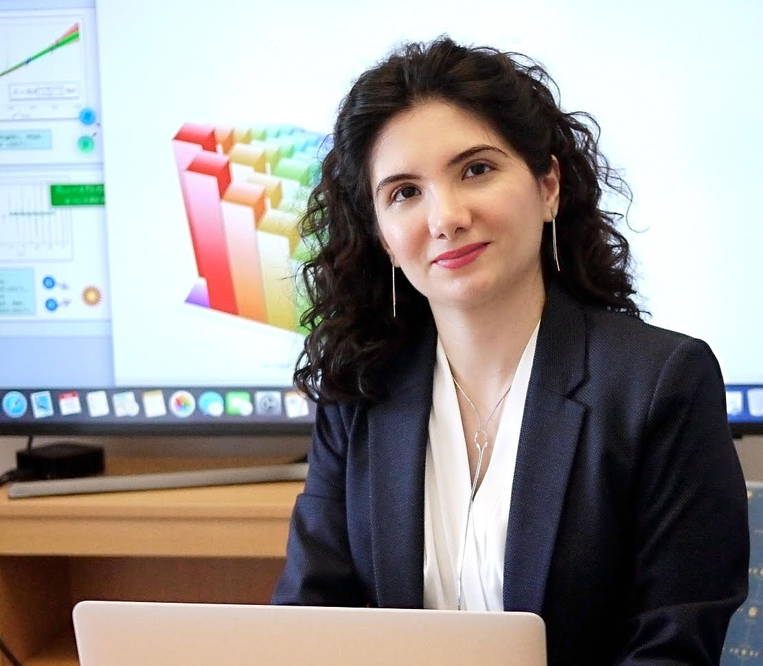 Zohreh Davoudi, an assistant professor of physics at the University of Maryland, has been awarded a 2019 Sloan Research Fellowship. Image credit: Faye Levine