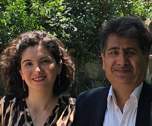 Davoudi and her father Hassan, Summer 2018.