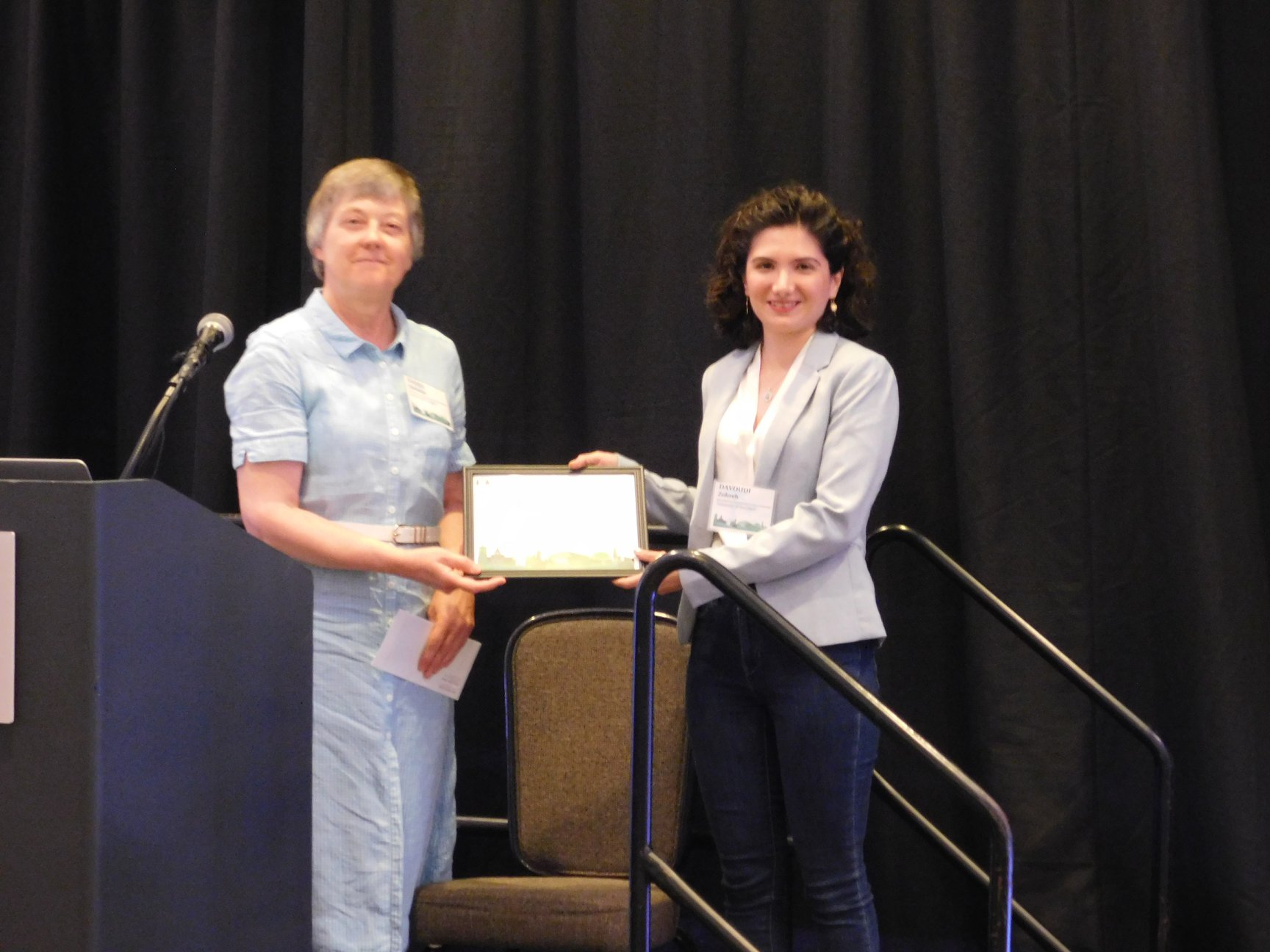 zohreh receiving Ken Wilson Lattice Award